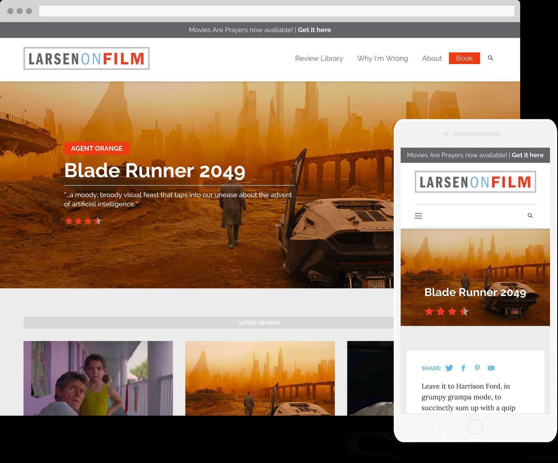 Larsen on film desktop and mobile