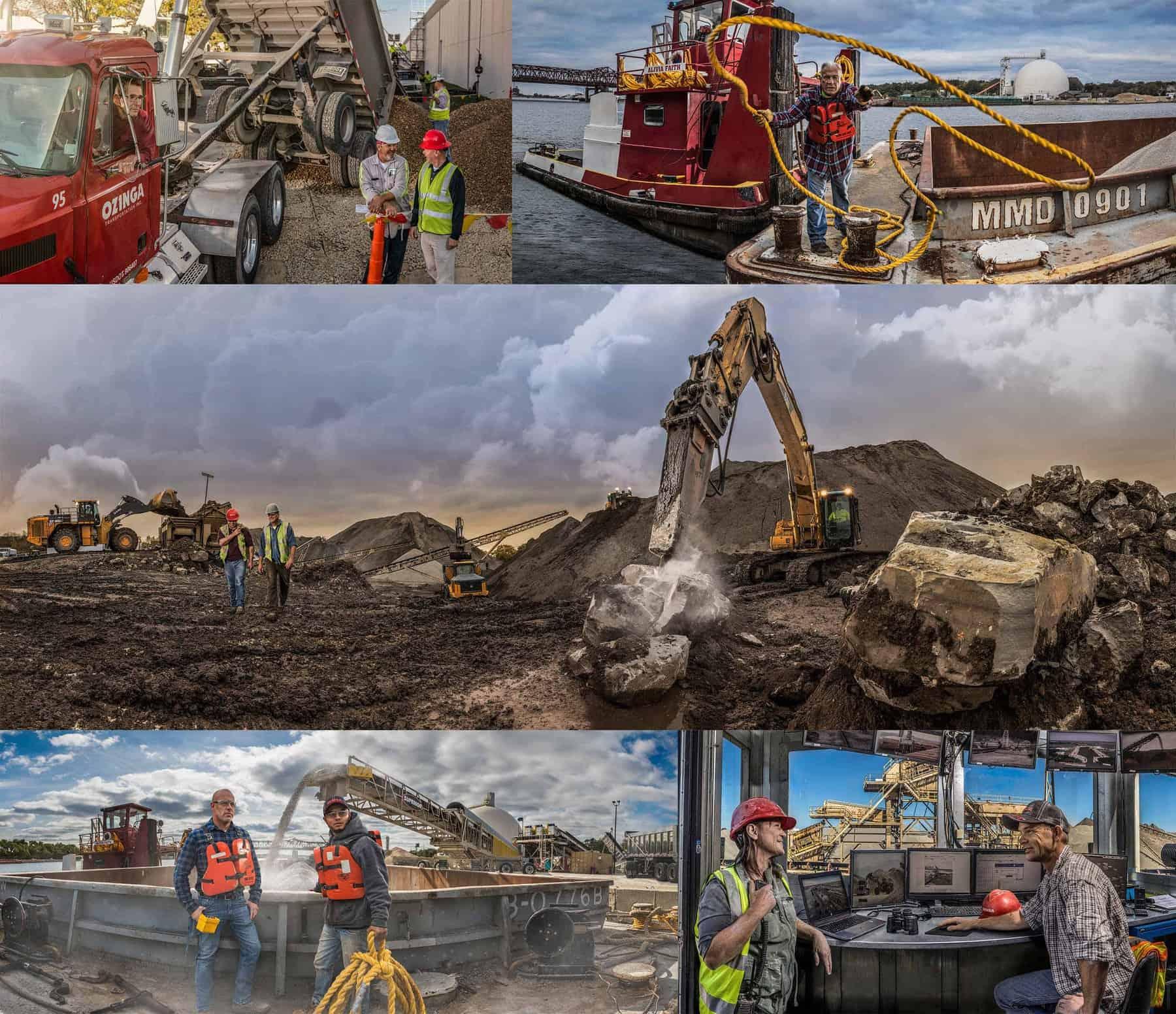 Ozinga materials and logistics collage