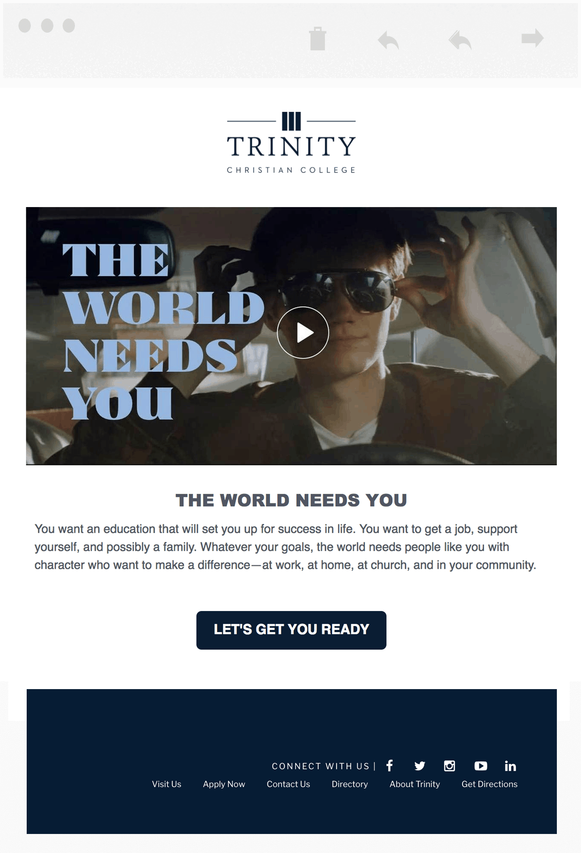 trinity mobile page