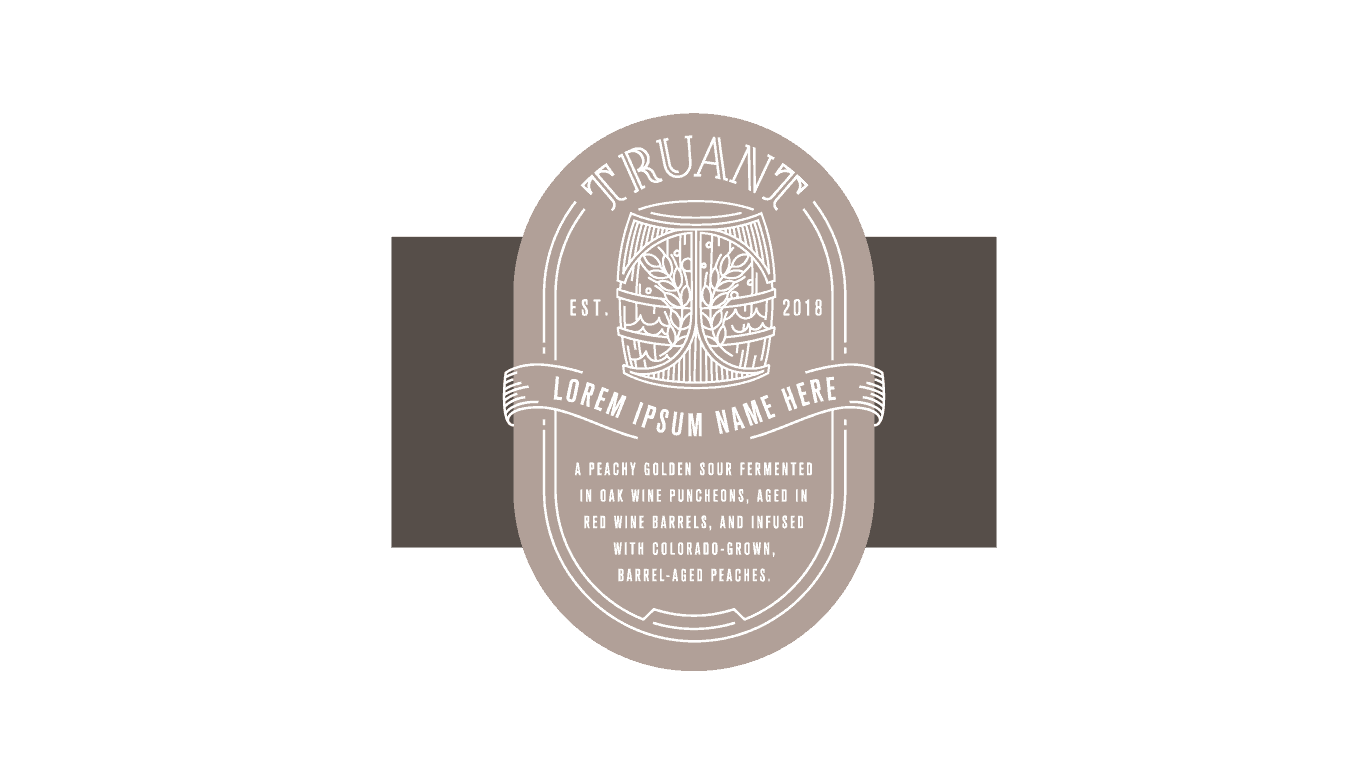 truant bottle label
