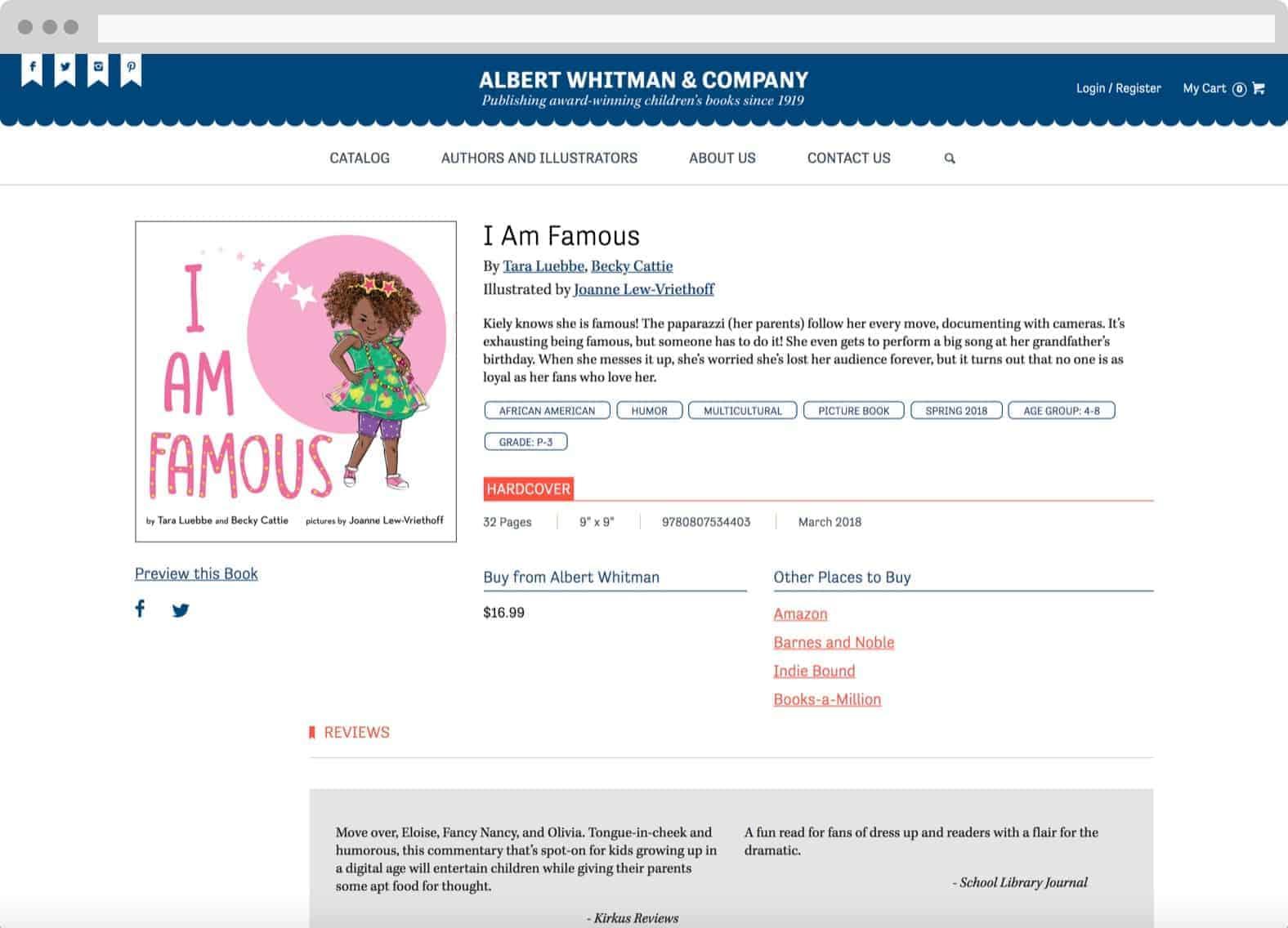 Albert Whitman & Company website