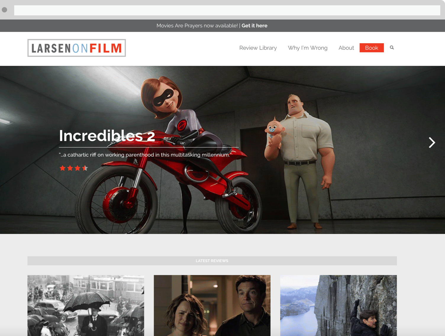 larsen on film website