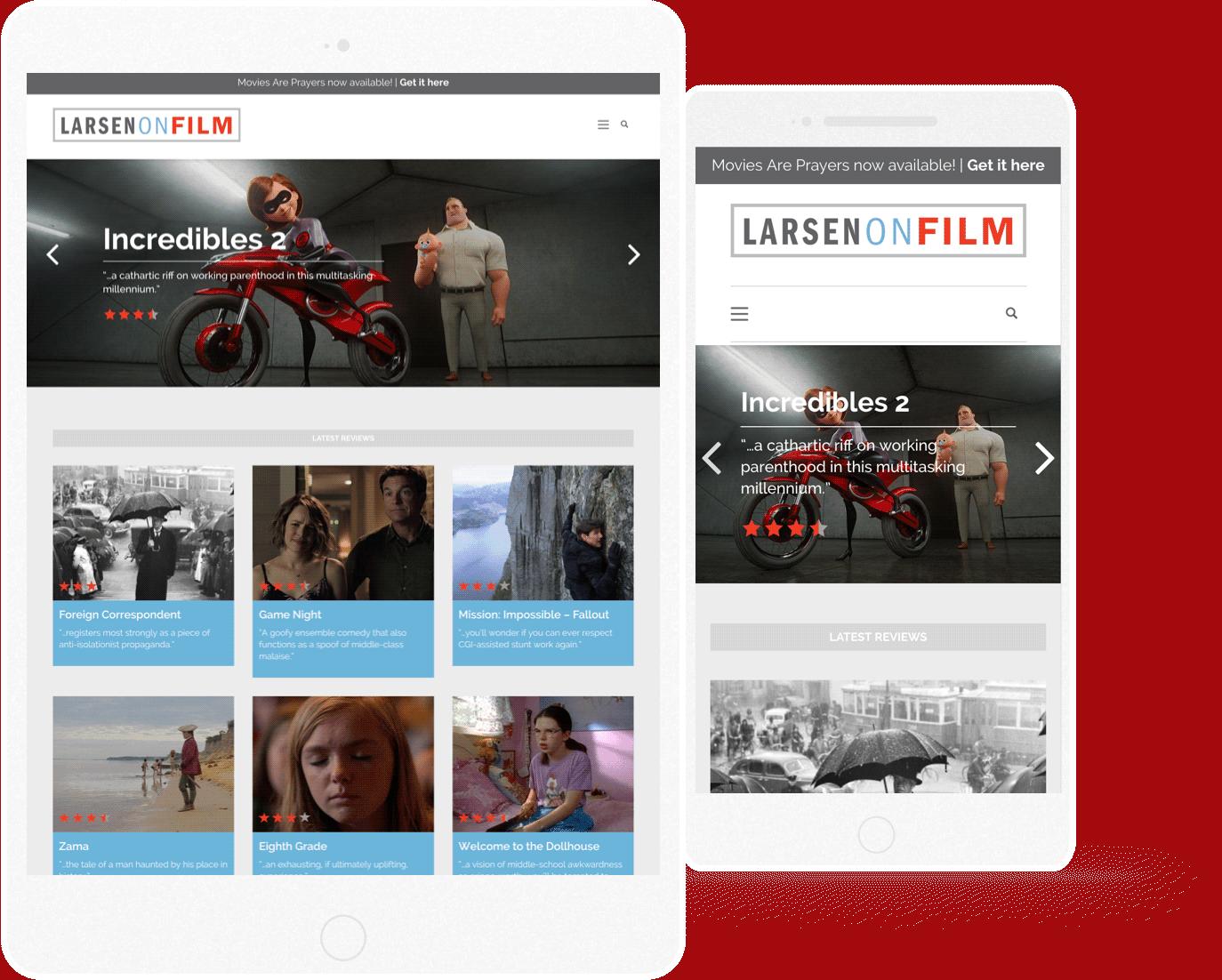 larsen on film mobile