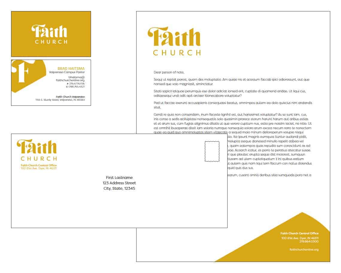 Faith Church stationary