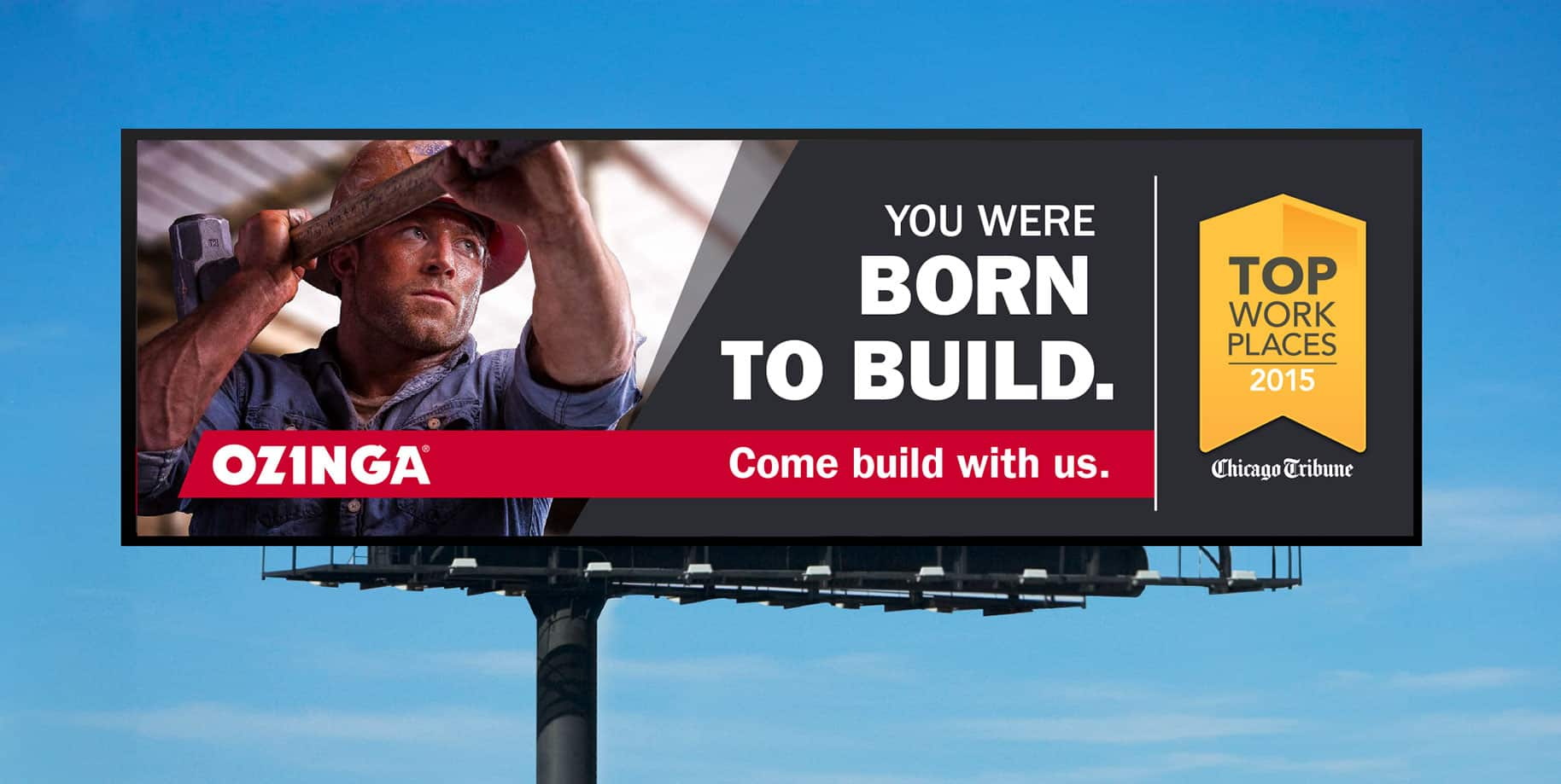 Ozinga born to build billboard